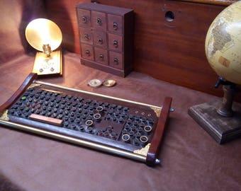 Steampunk Keyboard, custom made