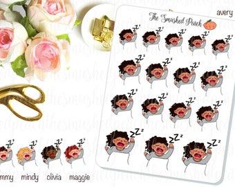 Naptime Sleepy Smushie - Hand Drawn Planner Sticker Sheet