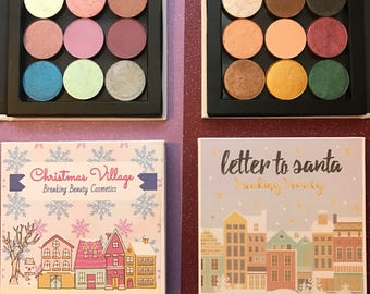 Holiday mineral eyeshadow palette collections - letter to santa and christmas village
