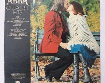 Vintage Abba Greatest Hits Vinyl Record
