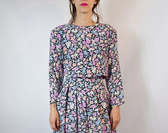 Vintage Lanz Floral Print Dress Size Small