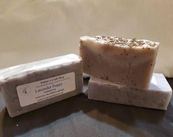 Lavender Poppy Handmade Soap