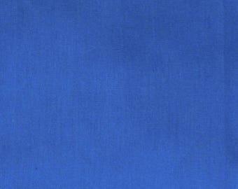 Plain blue cotton fabric coupon 50 x 100 cm