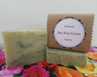 Bay Rum Fusion Soap, Bay Rum Soap, Bay Rum Bath Soap, Bay Rum Soap Bar, Bay Rum Bar Soap, Handmade Soap, Natural Soap, Vegan Soap