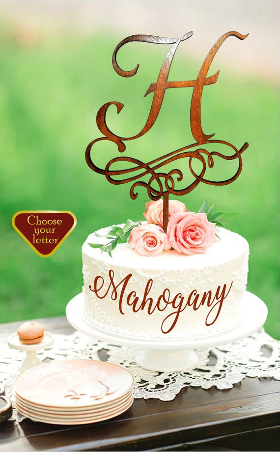 letter h cake topper wedding cake topper letter rustic cake
