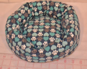 Snuggle Bed, Guinea Pig Cuddle Cup, Rat Roll Cozy, Ferret Snuggle Roll, Round Bumper Sleeping Mat Bed Perfect for Rats, Cavies, Hedgehogs