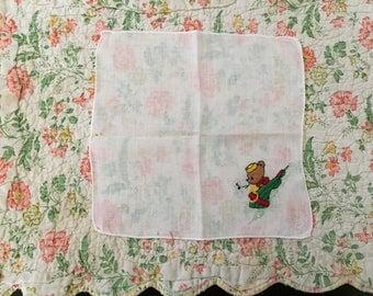 Vintage Handkerchief / Little Bear