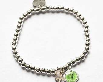 925 sterling silver plated religious bracelet