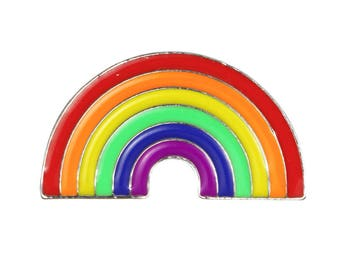 Cute Rainbow Enamel Pin // Gay Pride LGBT // Summer Festival // Rainbow Pin