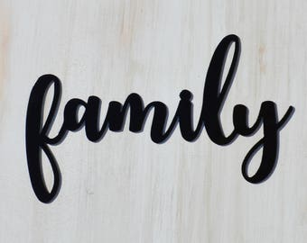 Family Word cut out