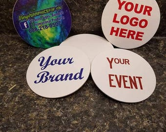 Custom Drink Coasters GREAT for Weddings, Parties, Events, Bars, Advertising