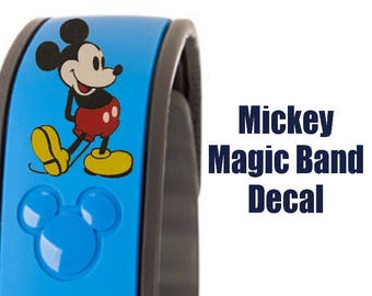 Mickey Mouse Disney Magic Band Decal x1 - Fits 2.0 2 or Original MagicBand - Skins Stickers Accessories