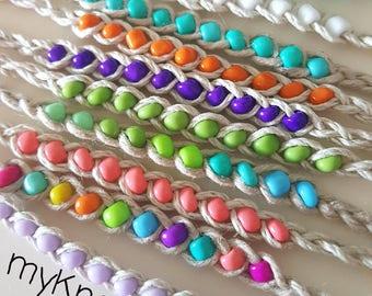 NEW! Handmade! 10 bead hemp cord WISH friendship bracelets LOT