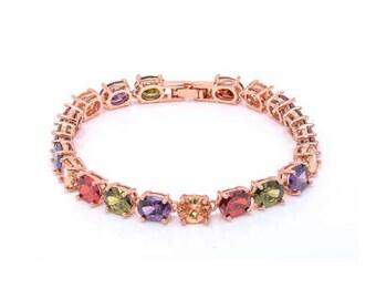 Multicolor Zircon Bracelet