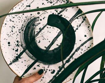 Ceramic Plate. Handmade Plate. Stoneware Plate. Dinner Plate. Wedding Gifts.