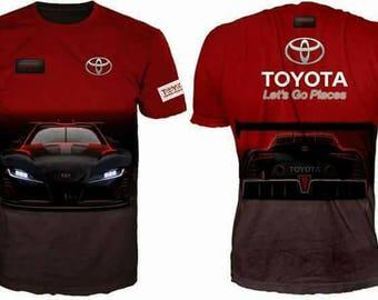 New ultramodern 3D  High Quality Toyota Red   Men's T-shirt