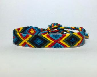 Summers Friendship Bracelet green/yellow/blue/red