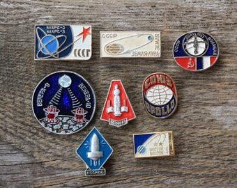 Space ship pin Apollo program Cosmos art Apollo pin Rare pin Soviet vintage Enamel pin Soviet pin Friendship gift long distance relationship