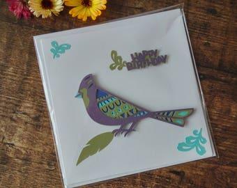 Songbird Happy Birthday Card