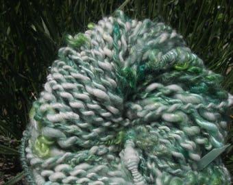 Fancy 'Chlorophyll' handspun yarn