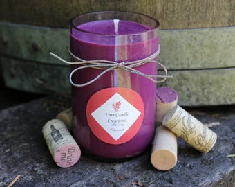 Blueberry Cheesecake Soy Wine Bottle Candle