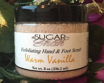 Warm Vanilla Hand & Foot Sugar Scrub / Handmade FREE SHIPPING (US)