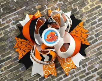 Finding Nemo hairbow, disney hairbow, boutique bow