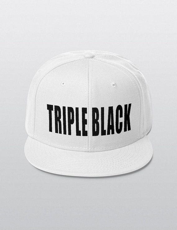 TRIPLE BLACK | Wool Blend Snapback Cap