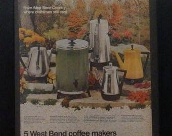 West Bend, Coffee Makers, Coffe Urns, Retro, Kitchen Decor, Ephemera