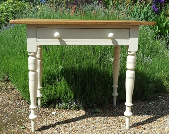 Small Old Pine and Cream Painted Side Table