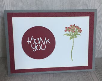 Thank You/Flower Card