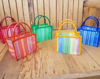 10 Small bags, Mercado Bag, Party Favor, Fiesta, Beach Bag, Birthday Party, Fiesta, Wedding