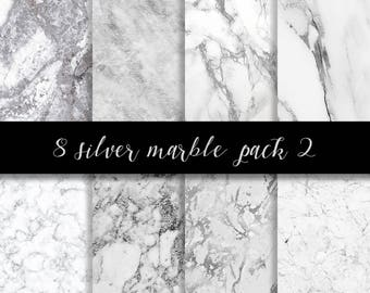 Silver white marble digital paper, silver marble paper, silver paper, marble backgrounds, Stone paper, silver marble, marble commercial use