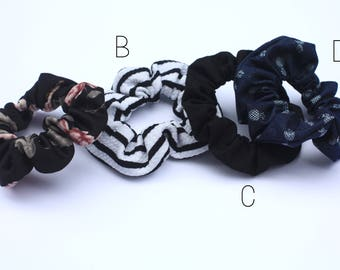 Scrunchie elastic hair - hair scrunchie - hair - made from scraps of fabrics - girl girl woman accessory