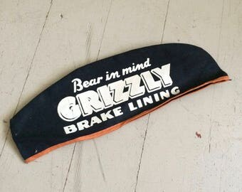 1950's/60's Grizzly Break Lining Gas Station Attendant Cap