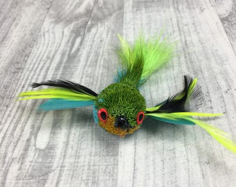 Cat toy | Pretty Fly - Fly wand  / Feather jet cat teaser toy attachment | Deer hair cat toy | Bird cat toy | Dabird cat toy replacement