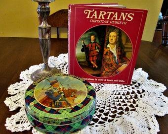 Tartans book by Christian Hesketh and Duncan Chocolate Assortment tin WM Duncan Ltd Edinburgh Scotland made in Great Britian