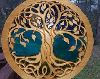 Tree of Life w/ stain glass