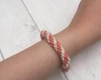Kumihimo  microfibre Suede handmade bracelet.