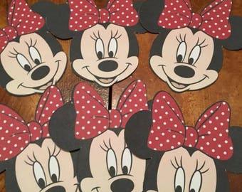 6 Minnie Mouse Die Cuts Cutouts