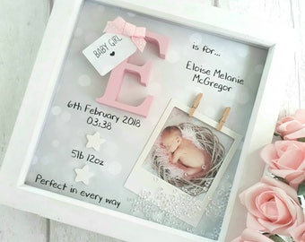 New Baby Gift, Baby Girl Gift, Gifts For Newborn, 1st Birthday gift, Goddaughter Gift, Gift For Niece, Nursery Print, Personalised Keepsake
