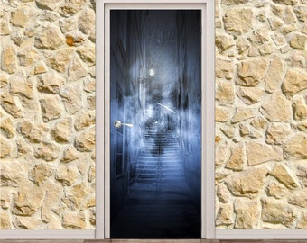 "Scary Alley Door Poster/Sticker (31"" x 79"" 