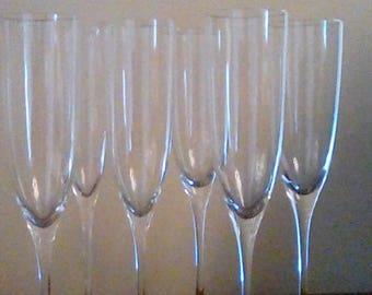 6 Elegant Champagne Stems