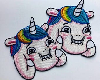 Unicorn Pony iron on patch, Mabel Pines fandom  Gravity Falls Embroidered Patch Iron on Applique