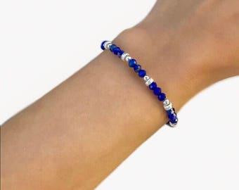 Gemstone Bracelet With Lapis Lazuli,Lapis Lazuli Bracelet