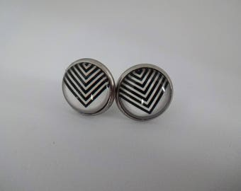 Stainless steel 12 mm earrings
