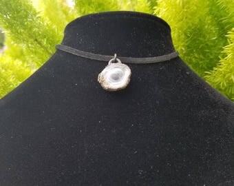 Aura Chalcedony Choker, Calcedony Necklace, Crystal Choker, Crystal Necklace