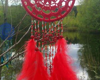 Red coral, Czech glass beads, Dreamcatchers, marabou feathers, Zodiac gemstone