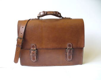 Vegetable tanned leather/leather Messenger