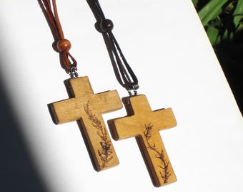 Rear View Mirror Cross, Design-LG-P, wooden cross, christian jewelry
